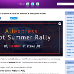 Admitad AliExpress and the $30,000 Hot Summer Rally
