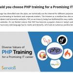 Why should you choose PHP training for a Promising IT career?