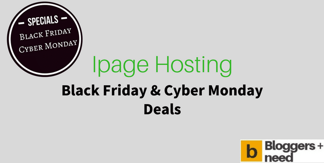 Ipage Black Friday Cyber Monday Deal