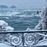 Extreme Cold Transforms Niagara Falls Into a Frozen Winter Wonderland