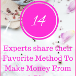 14 Experts share Their Favorite method To Make Money From a Blog